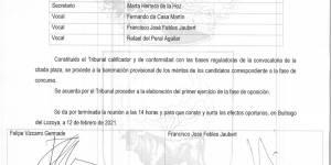 """Acta de sesión 12/02/2021 del Tribunal """"Plaza de Arquitecto"""""""