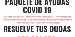 SI tienes alguna duda sobre las ayudas que se ofrecen con motivo del Coronavirus COVID-19 o la declaración de la renta, consulta aquí...