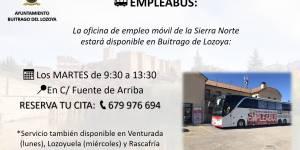 Empleabus: Conoce la nueva oficina de empleo móvil de la Sierra Norte
