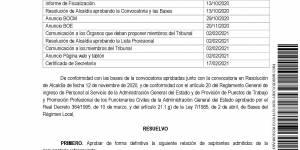 Listado definitivo de admitidos y excluidos en el proceso selectivo para cubrir una plaza de operario de obras y servicios, de consolidación de empleo temporal