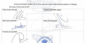 """Acta de sesión 02/03/2021 del Tribunal """"Plaza de Arquitecto"""": fecha primer ejercicio"""