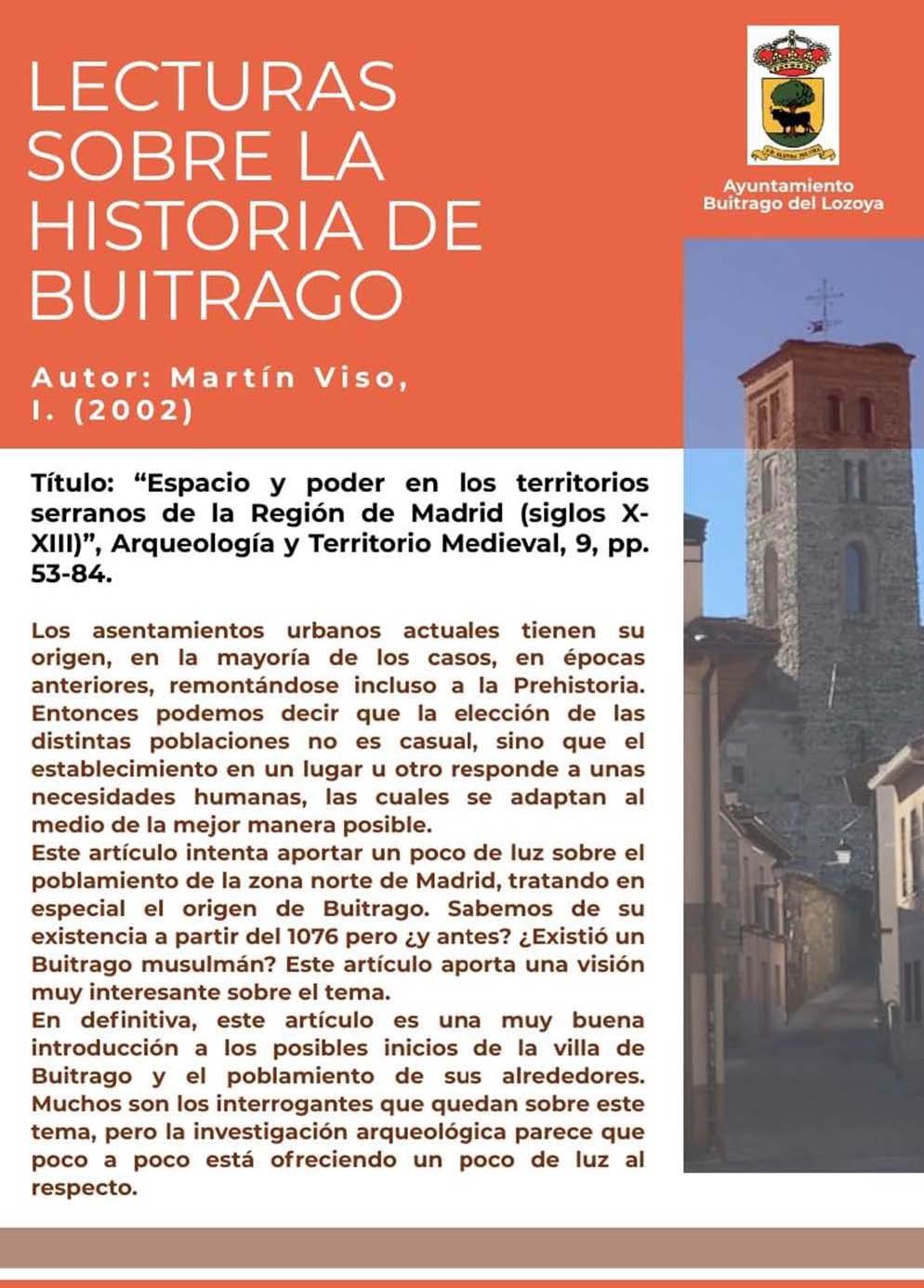 Lecturas sobre la historia de Buitrago